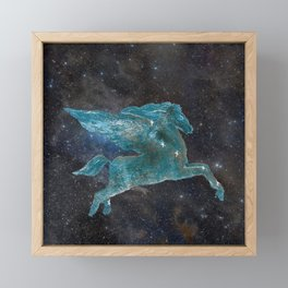 Pegasus and Galaxy Framed Mini Art Print