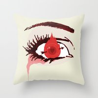 games Throw Pillows featuring The Games by Duke Dastardly