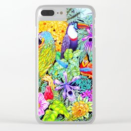 Nature's Sleeping Serenity Clear iPhone Case