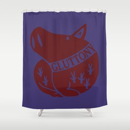 The Boar's Sin of Gluttony Shower Curtain