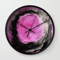 vertigo Wall Clocks featuring Vertigo by Georgiana Paraschiv