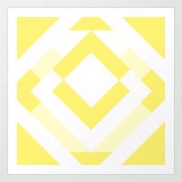 Diamond Yellow Art Print