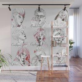 Les Amis Wall Mural