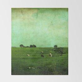 The Green Yonder Throw Blanket