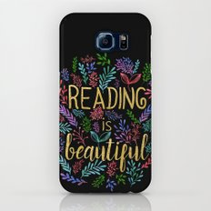 Reading is Beautiful - Gold Foil Galaxy S7 Slim Case