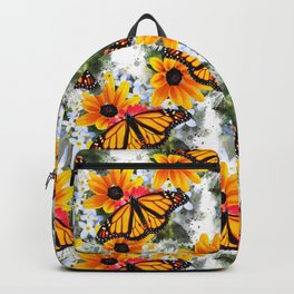 Monarch Butterfly Pattern Backpack
