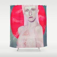 koi Shower Curtains featuring Koi by Josh Merrick