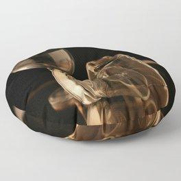Glasses in Gold Tones Floor Pillow