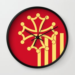 Languedoc-Roussillon symbol shield Wall Clock