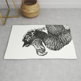 Mrs Dodo | Dodo Bird | Extinct Birds | Black and White | Rug