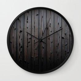 Silvered Slats Wall Clock