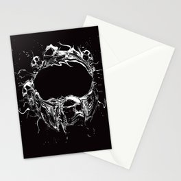 Skull Space Station Stationery Cards