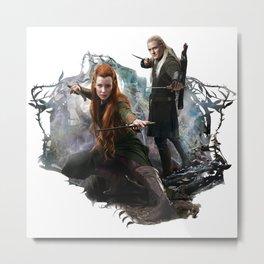 Fighting Elves of Mirkwood Metal Print
