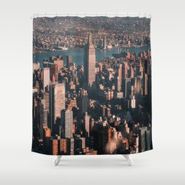 Empire State Building seen from a plane Shower Curtain