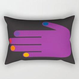 Purple Pop Hand Rectangular Pillow