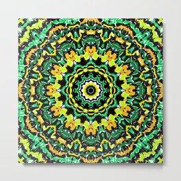 Orange Yellow and Green Kaldeidoscope 2 Metal Print