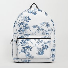 Chinoiserie in White Backpack
