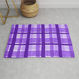 Tissue Paper Plaid - Purple Rug