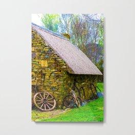 The Thatched Bog Metal Print