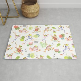 Party frogs Rug