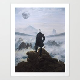 "Homage to Caspar David Freidrich, ""Trooping above the Sea of Fog"" Art Print"
