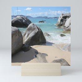Scenic Beach at The Baths on Virgin Gorda, BVI Mini Art Print