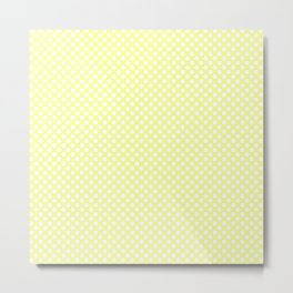 Polka Dots Pattern-Yellow Metal Print