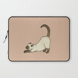 Siamese cat stretching Laptop Sleeve