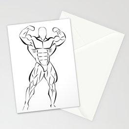 Bodybuilding Physic Stationery Cards