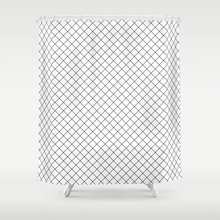 45 Small Grid Shower Curtain By Rodrigomffonseca