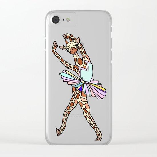 Giraffe Ballerina Tutu Clear iPhone Case