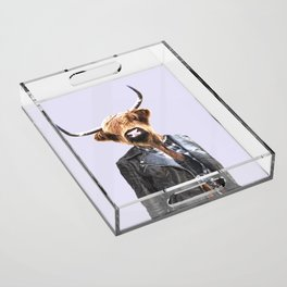 Cow Girl Acrylic Tray