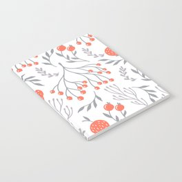 Red Berry Floral Notebook