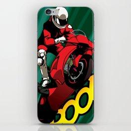 Biker - Green iPhone Skin