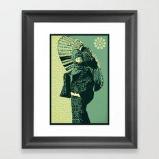 ASIAN WOMAN-GREEN VERSION Framed Art Print