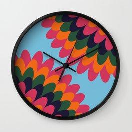 Dahlia on an island Wall Clock
