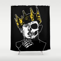 kendrick lamar Shower Curtains featuring King Kendrick by zombieCraig by zombieCraig