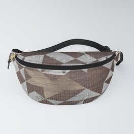 Geometric Wooden texture pattern Fanny Pack