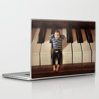 toddler Laptop & iPad Skins featuring Just wanted to drop you a note! by micklyn
