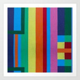 Geometric Color Shapes Art Print
