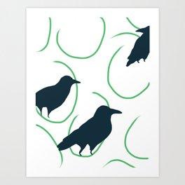 Ravens Grazing Art Print
