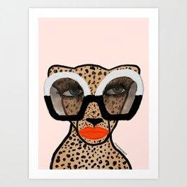 Cheetah In Shades Art Print
