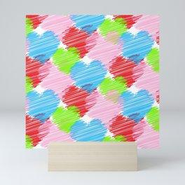 Colorful Hearts Mini Art Print