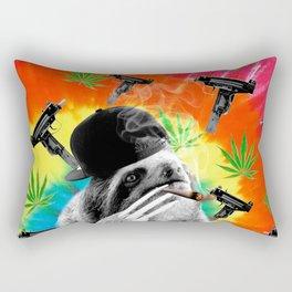 sloth gangsta gangster Dope Weed Rectangular Pillow