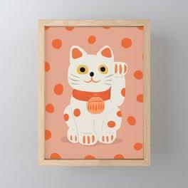 Abstraction_Lucky_Charm_Cat Framed Mini Art Print