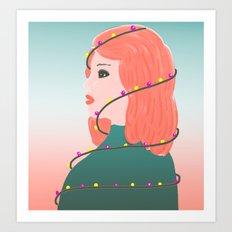 December girl Art Print