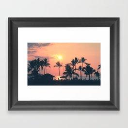 Hawai'n Sunset Framed Art Print