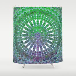 Spring Mandala Wheel Shower Curtain