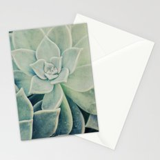 Botanical -- Jade, Mother-of-pearl, Ghost Plant Leaves Stationery Cards