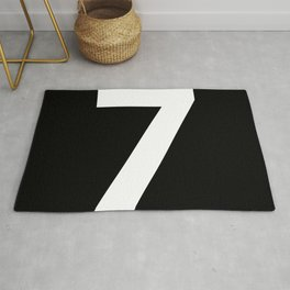 Number 7 (White & Black) Rug